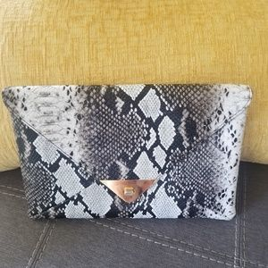 Handbags - NEW Snakeskin Envelope Clutch Handbag